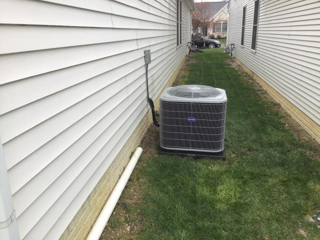 Westerville, OH - Upon completing a diagnostic on a Carrier air conditioner I found the system leaking and we will have to braze joint.