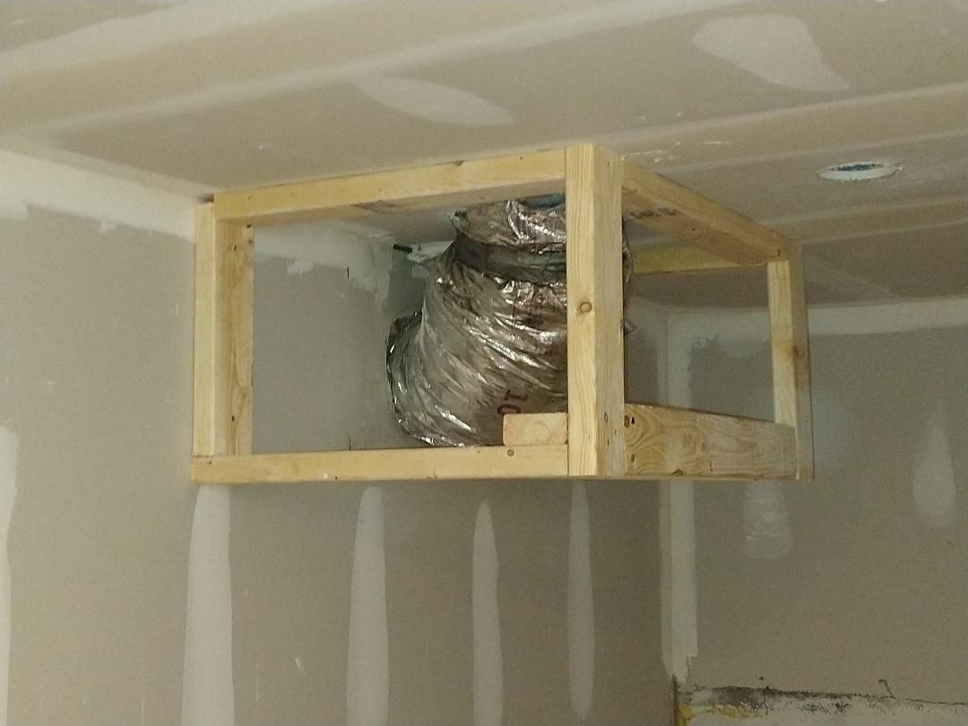 Atlanta, GA - Framework in basement around ductwork to prepare for sheetrock