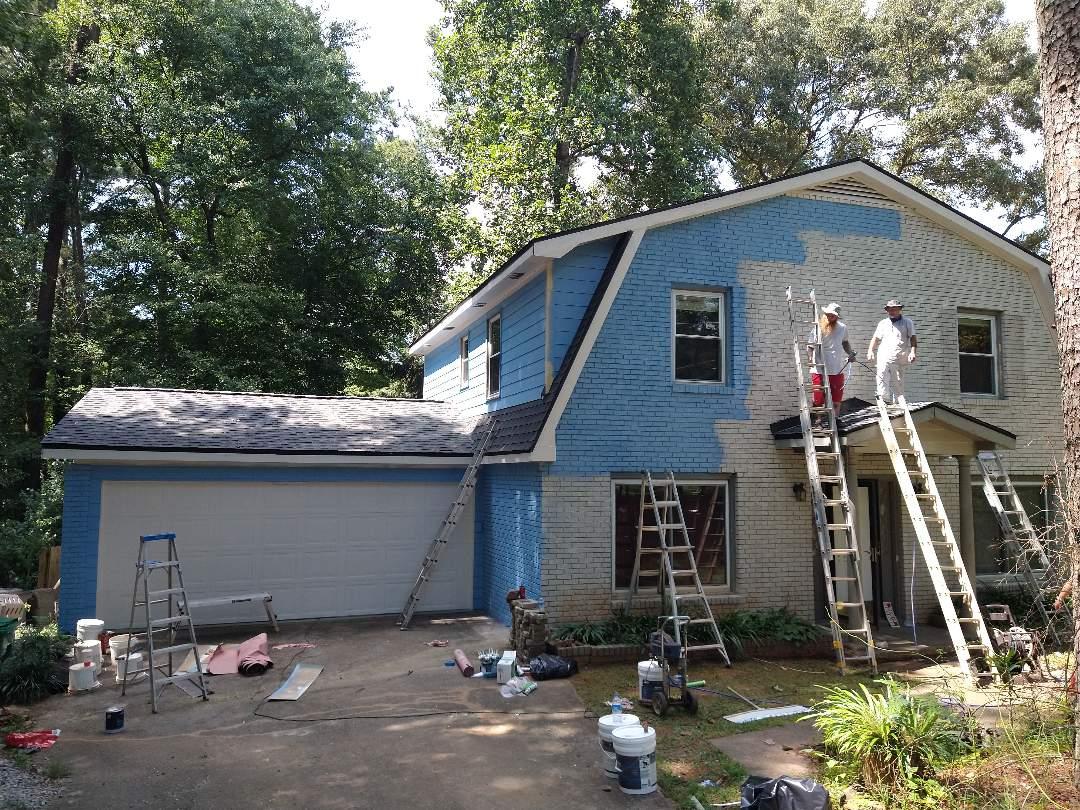 Tucker, GA - Exterior house painting