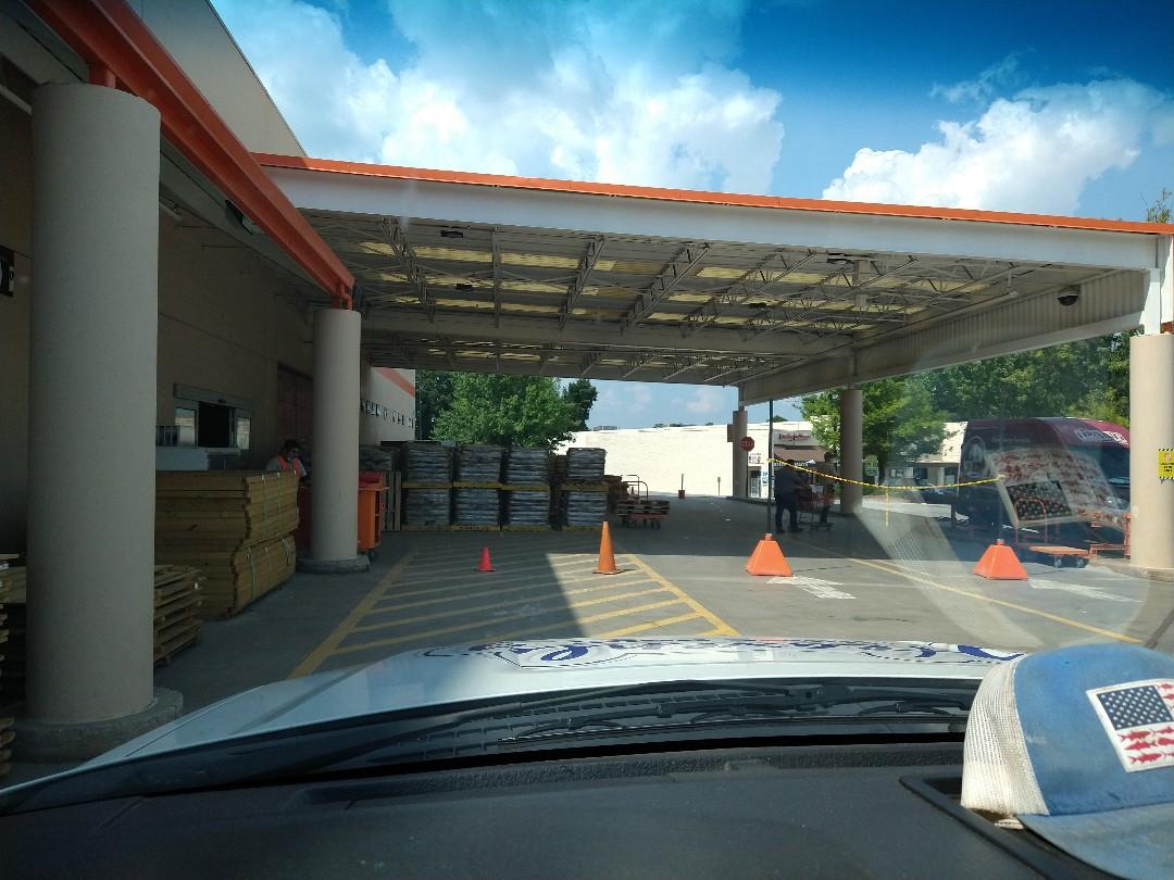 Norcross, GA - At Home Depot getting materials for roof repair