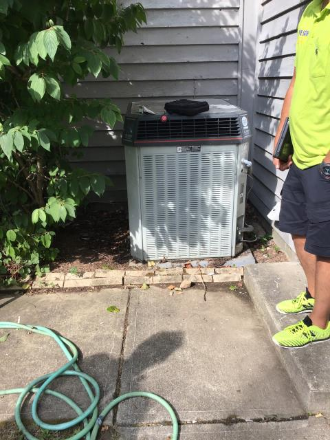Centerville, OH - Tuneup and safety check on Trane AC. The system is in good working order and operating properly.