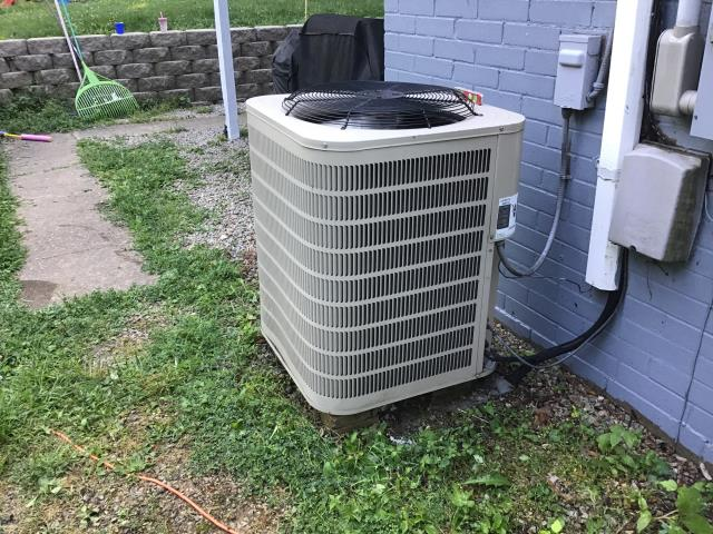 Beavercreek, OH - Removed dirty filter on Ducane system and found unit overcharged. Removed appropriate amount of  R-22 from the system. The system is now cooling properly.