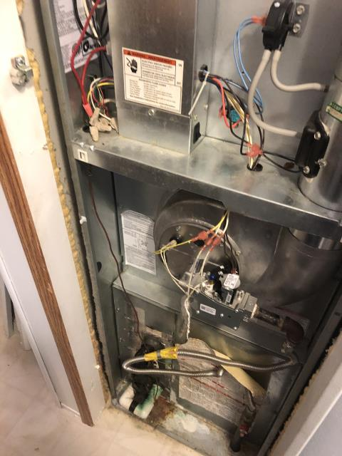 Springfield, OH - Performing our Five Star Tune-Up & Safety Check on a  Revolve  Gas Furnace   . All readings were within manufacturer's specifications, unit operating properly at this time.