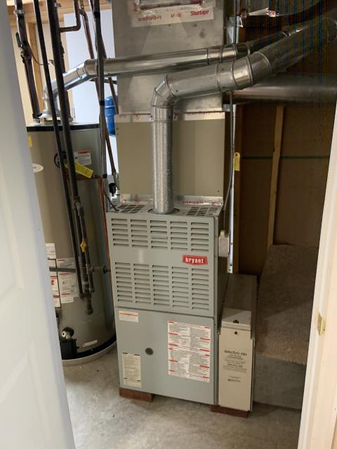 Dayton, OH - The 2012 Bryant System is showing a lockout air code. I Reset system and restarted system ignited ran for a few seconds and shut off. I Pulled in clean flame sensor restarted system system is now operational and heating the house. Cycled system on and off several times with no issues. Recommend routine yearly maintenance