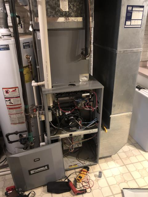 Beavercreek, OH - I Un-install and Clean Blower Motor and then Re-install Blower Motor
