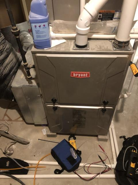 "Xenia, OH - I found that the furnace had overheated and was throwing a high limit error code ""33."" I reduced gas pressure and increased fan speed and removed some drywall blockage. System is operational at time of departure."