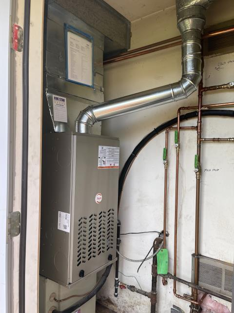 Centerville, OH - Return Service for a Five Star gas furnace.  In inspecting the furnace I noted that the gas line is the same for the furnace and the hot water heater.   I also determined that the hot water heater was not lit.  I lit the pilot light on the hot water heater.  Cycled and monitored the system.  Operating normally at this time.