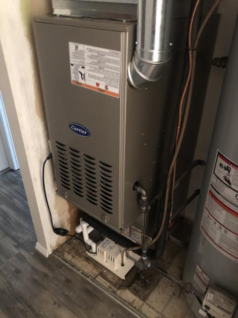 Fairborn, OH - Upon arrival for tune up safety check on 2020 Carrier furnace, everything within manufacture specifications and unit is operational upon departure.