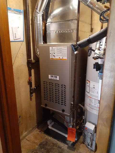 """Springfield, OH - I installed a Five Star 80% 70,000 BTU Gas Furnace 3T 17"""" and a Five Star 13 SEER 2 Ton Air Conditioner. System is set and customer is ready for the cooling season."""