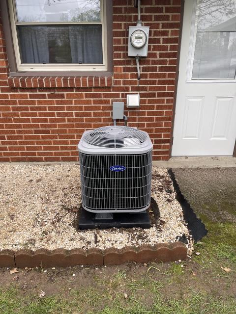 Xenia, OH - I installed a Five Star 13 SEER 1.5 Ton Air Conditioner. System is set and customer is ready for the cooling season.