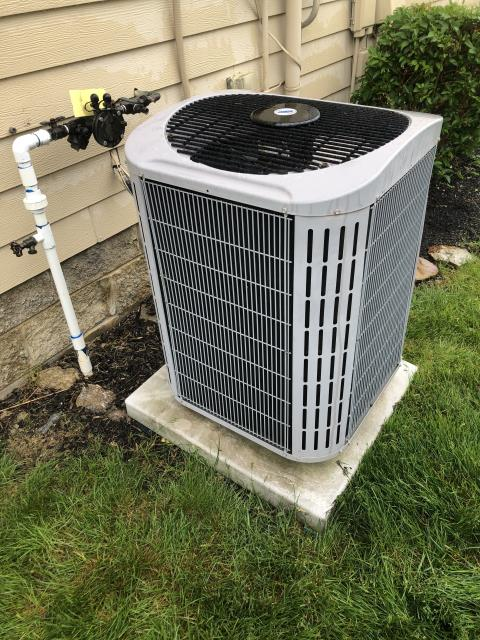 Springboro, OH - I performed a tune up and safety check on a Carrier air conditioner.  No issues were found and the system was operating according to manufacturer's specifications when I left.