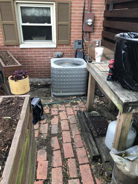 Centerville, OH - I performed a diagnostic on a Westinghouse air conditioner.  I found that the condenser coil was extremely dirty so I cleaned it.