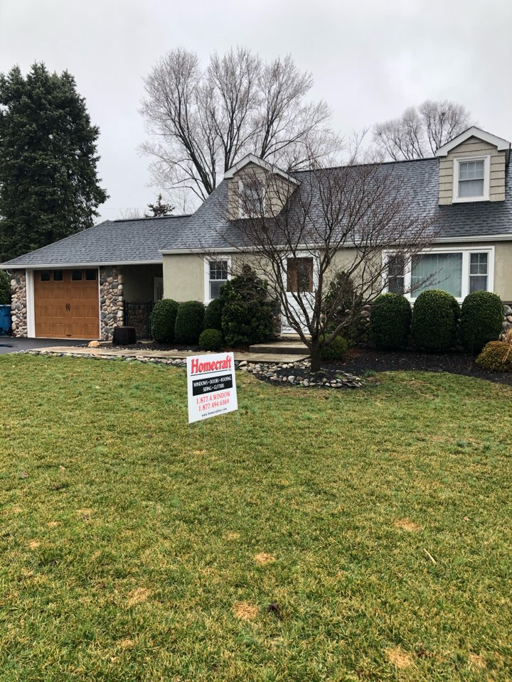 Malvern, PA - GAF Timberline shingles color Charcoal and Sno country ridge vent