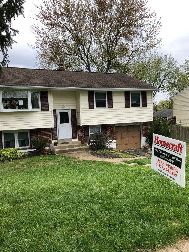 Aston, PA - Mastic siding color Cameo and soffit color Cameo and gutters