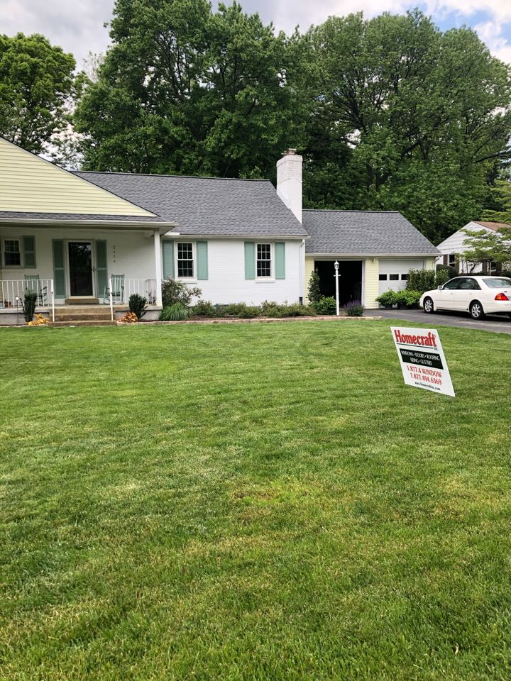 Wilmington, DE - GAF Timberline shingles color Pewter Gray and Sno country ridge vent