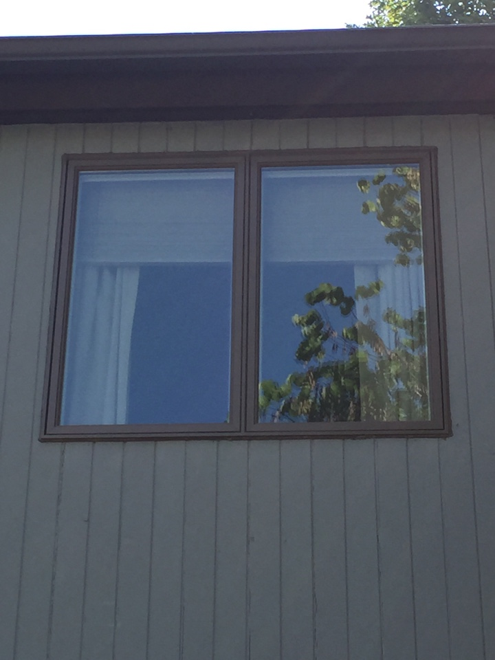 Chester Springs, PA - An Andersen Twin Casement Window recently installed by Homecraft, Inc.