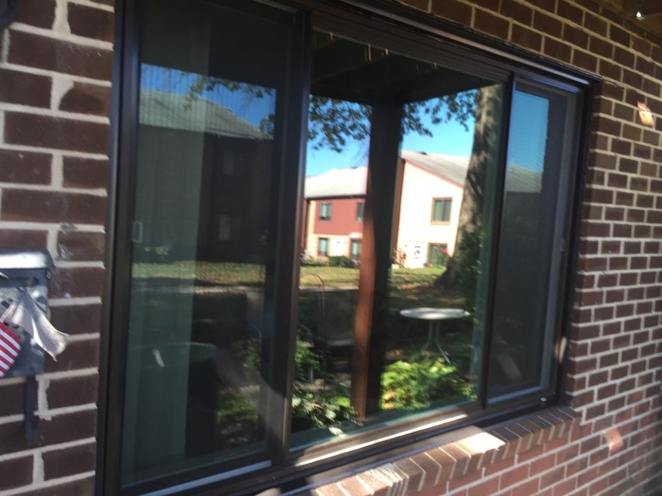 Brookhaven, PA - A WindBlocker Vinyl Slider Window recently installed by Homecraft, Inc.