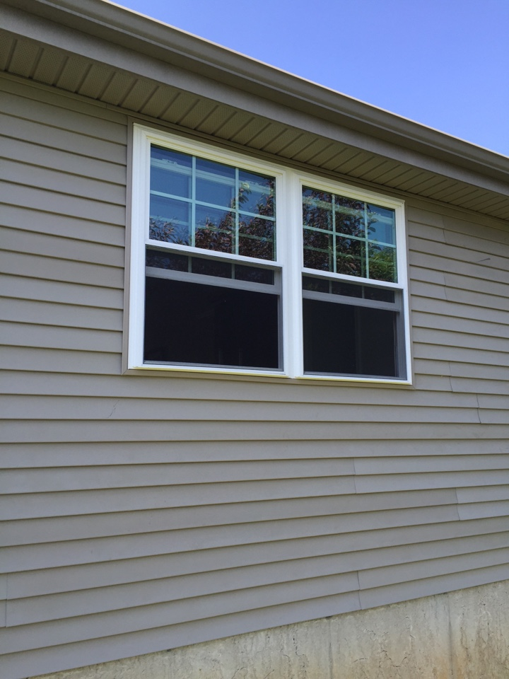 Middletown, DE - Created Opening and installed twin double hung windows