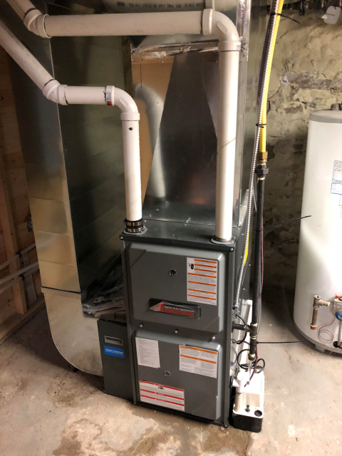 Guelph, ON - Installed New Amana Furnace AMEC96 for really nice people in guelph