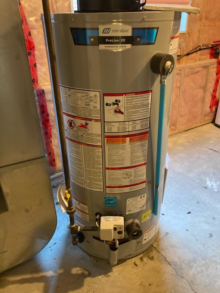 Fergus, ON - Install of John Wood PV50 hot water heater in Fergus ON