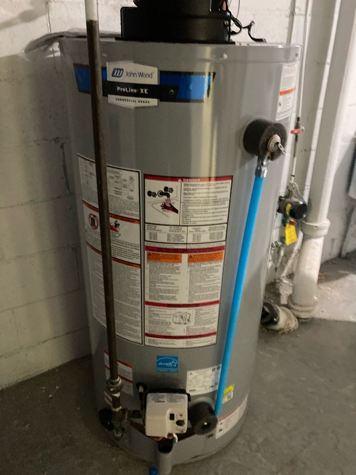 Guelph, ON - Installation of a new John Wood PV50 water heater, replacing a reliance rental tank.