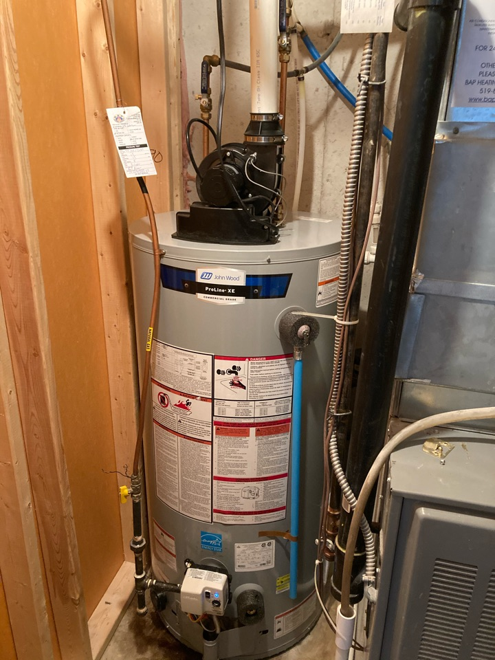 Guelph, ON - Installation of a John Wood PV50 hot water heater in Guelph Ontario
