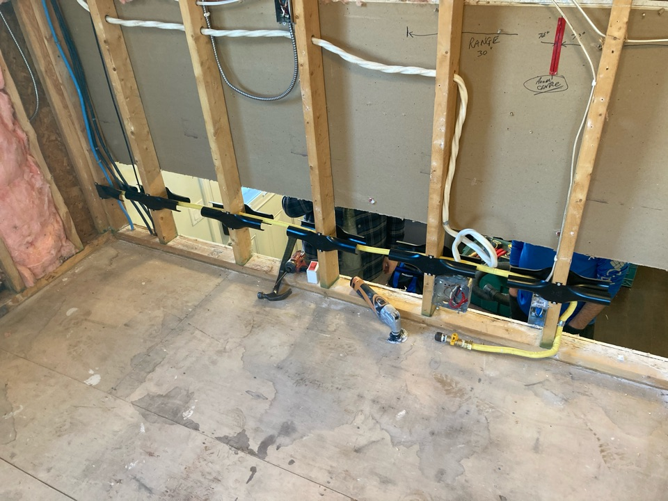 Guelph, ON - Installation of a gas line for a gas range in Guelph Ontario