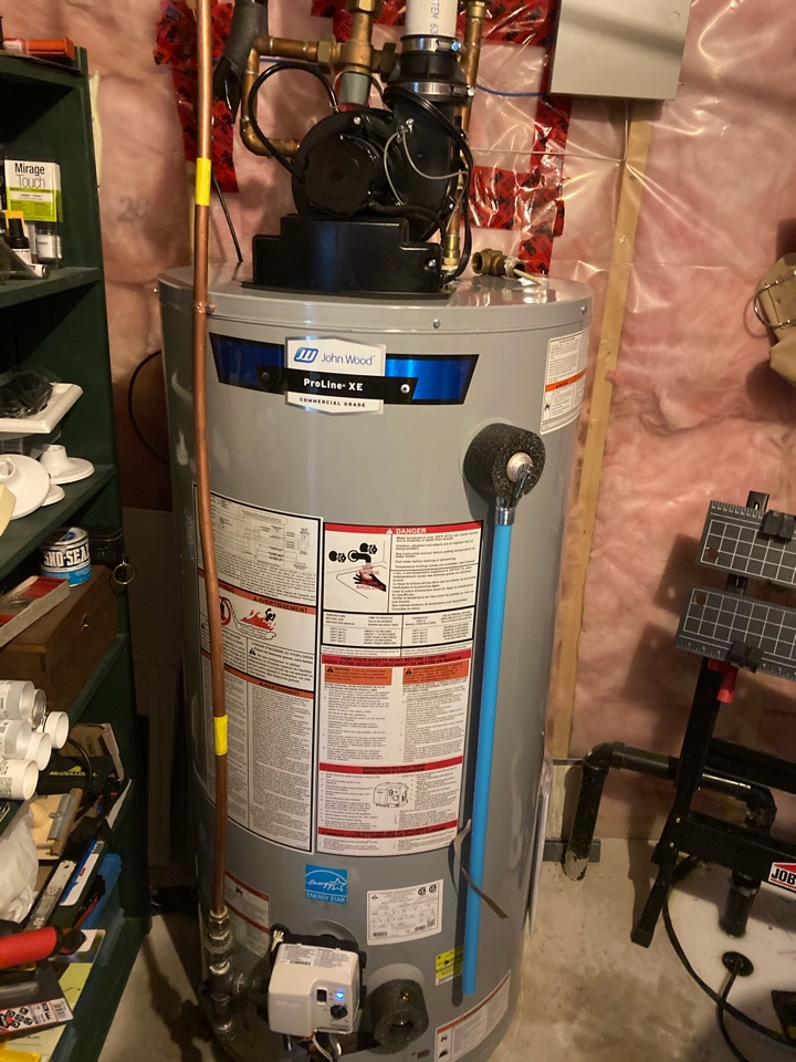 Guelph, ON - Installation of a John Wood PV50 hot water heater for a Guelph customer