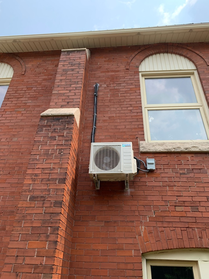 Guelph, ON - Installation of a Daikin Ductless system in Guelph.