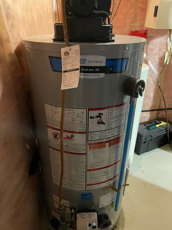 Guelph, ON - Installation of a new John Wood PV50 natural gas water heater in Guelph.