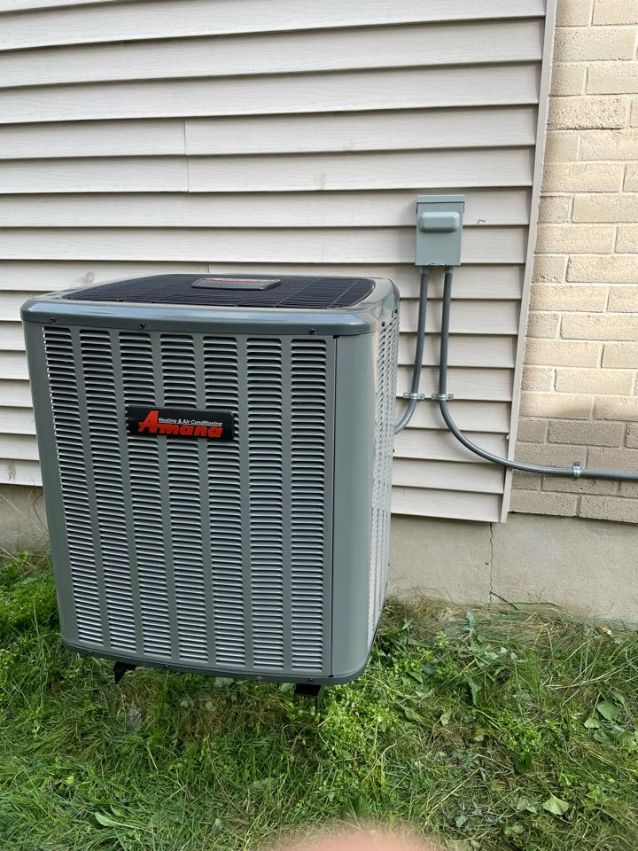 Install of an Amana ASX16 air conditioning system for a Guelph customer