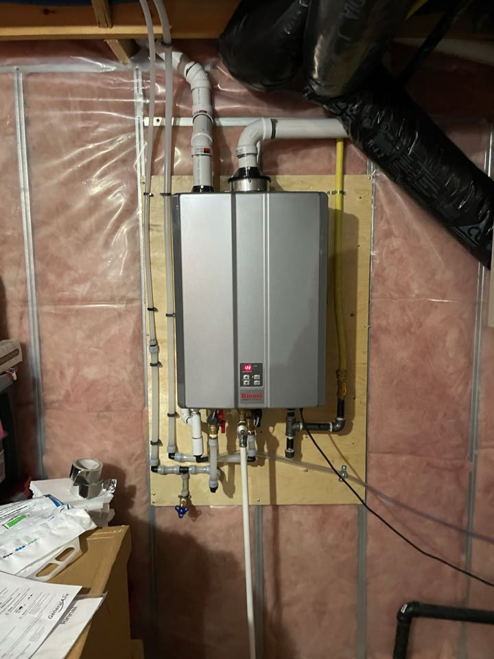 Installation of a new Rinnai Tankless water heater for a Guelph customer