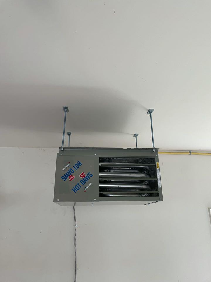 Installation of a Modine Garage heater in Guelph