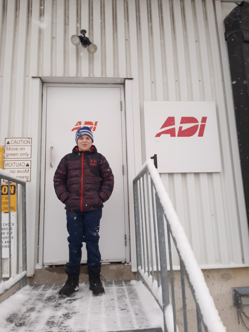 Mississauga, ON - Picking up proximity cards for an Access Control client. With my helper in tow...