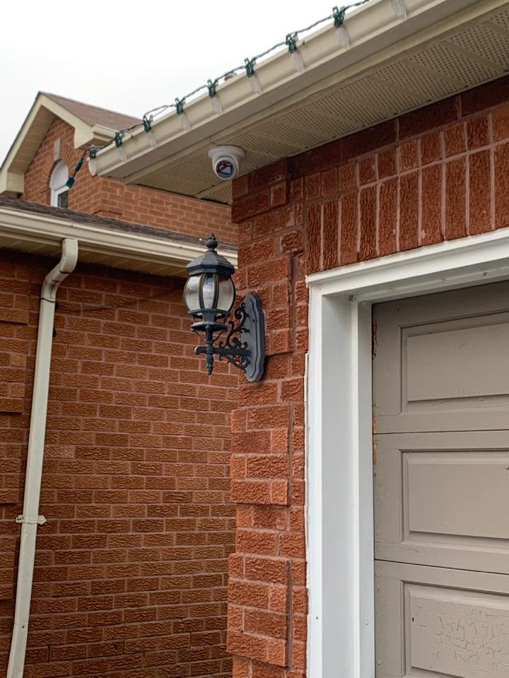 Installation of camera CCTV security system