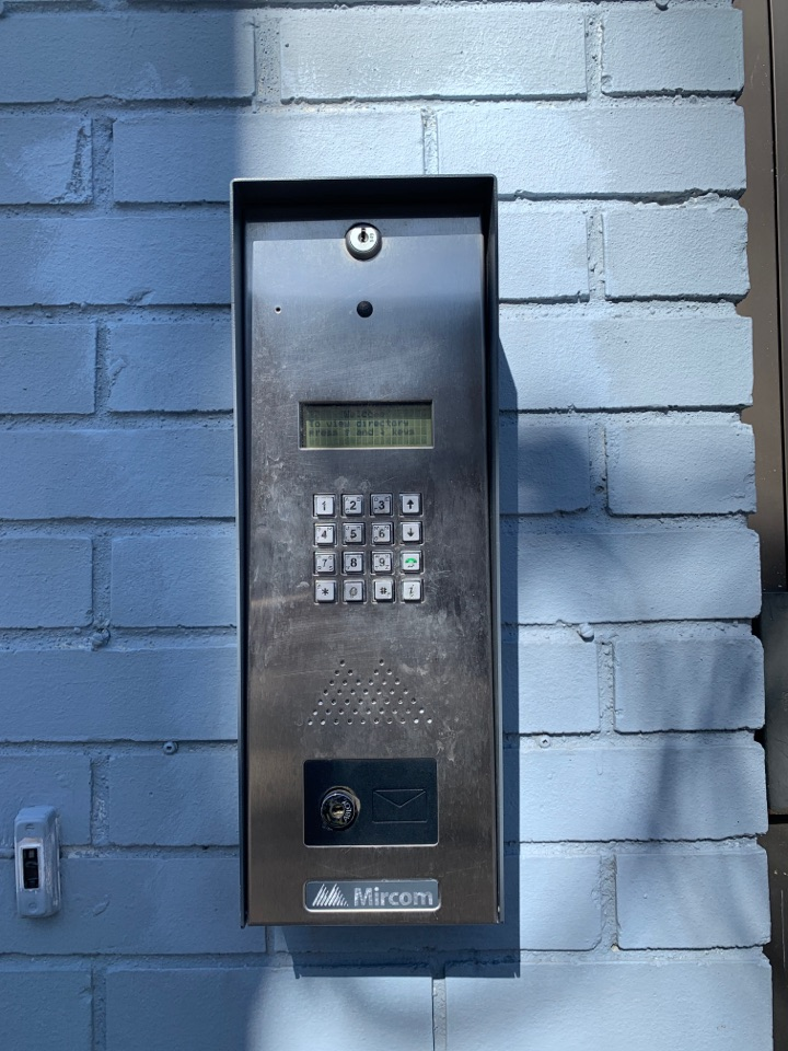 Fixing postal lock on access system