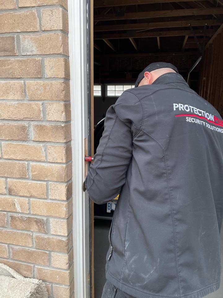 Markham, ON - Residential door reinforcements installation