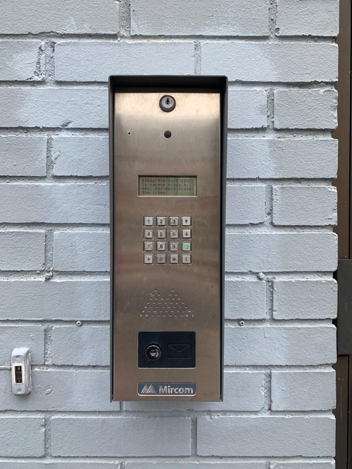 Replacing faulty postal lock in Mircom access system