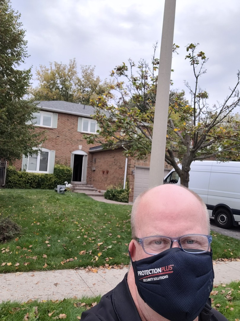 Residential security camera consultation. House under renovation. #Oakville