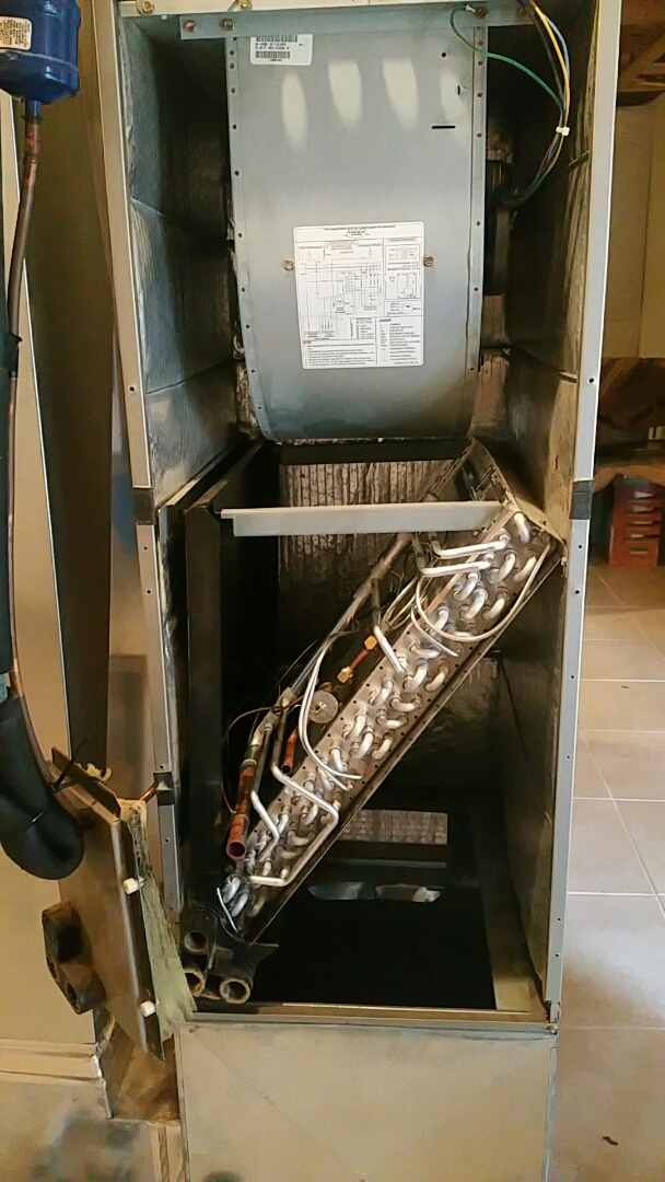carrier evaporator coil. after finding this carrier evaporator coil leaking. we have installed a brand new aluminum c