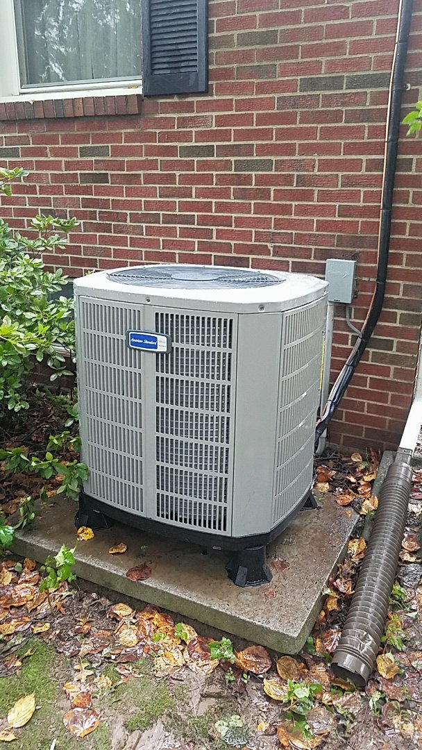 Installed new American Standard 14 SEER AC system.