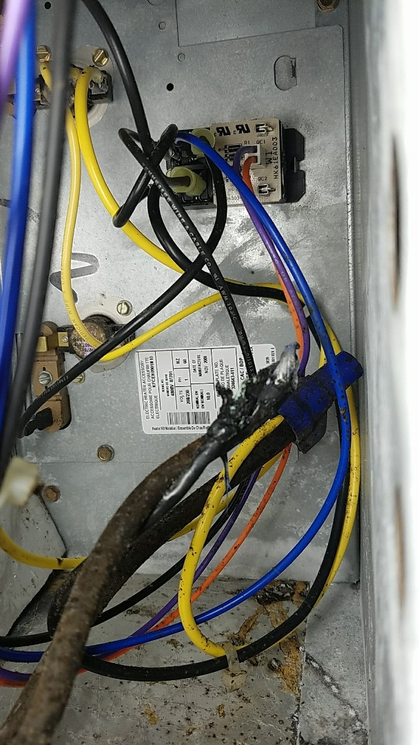 Caught this possible fire hazard on a preventative maintenance inspection.
