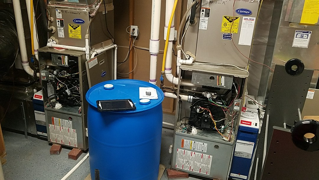 Heating inspections and humidifier service to two Carrier gas furnaces.