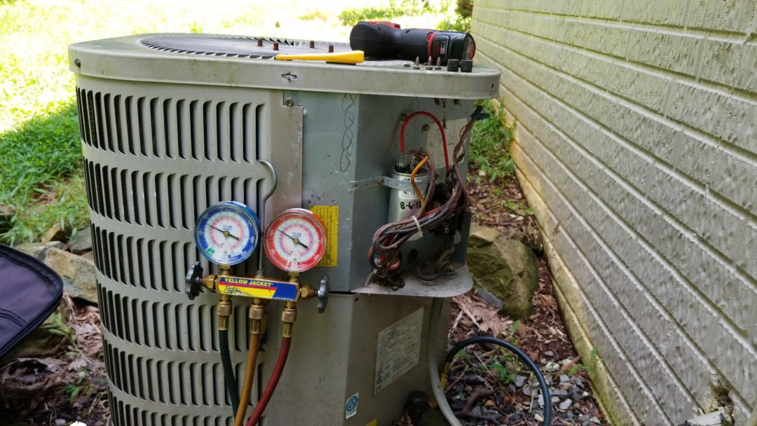 Installed new capacitor and verify AC operation on this Goodman unit.