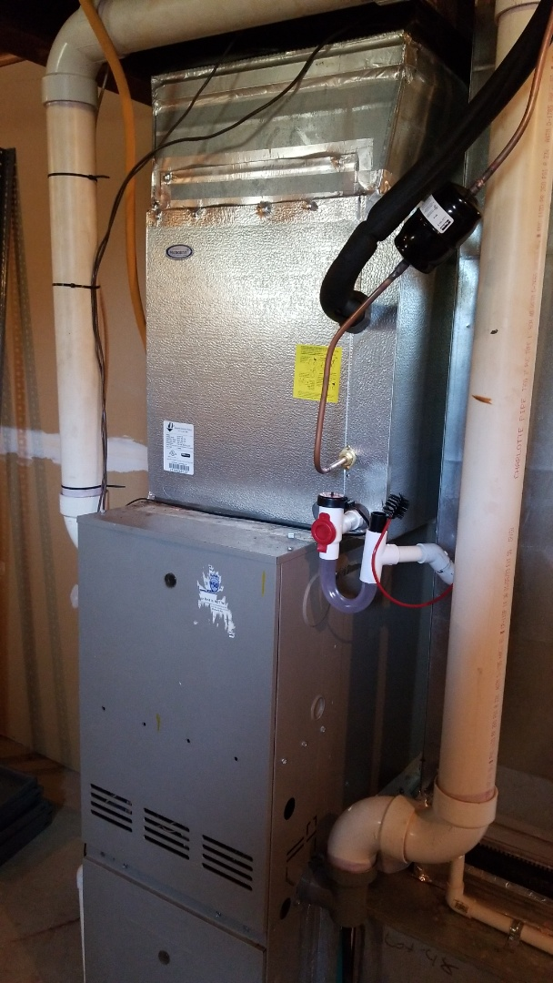 Installed new evaporator coil for this Goodman AC system. This customer is cooling and feeling comfortable again.