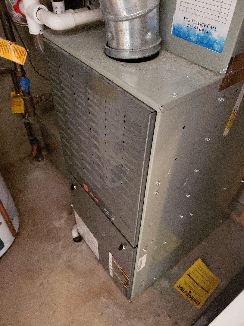 Replaced Flame sensor on Trane furnace