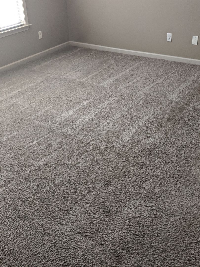 Steam cleaning carpets and removing stains in a vacant home in Pike Road