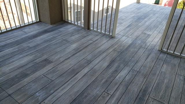 Spring Valley, NV - Concrete Wood Porches give you an authentic look of wood but durability and strength of concrete!! No worries of water damages, rotting, scratches, or splinters when walking on this floor while enjoying the outdoors!!!