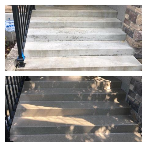 Spring Valley, NV - Give that old, crack, unattractive stair case a new beautiful look! Graniflex will update your stairs while protecting from water damages, chemical stains, and slipper accidents!