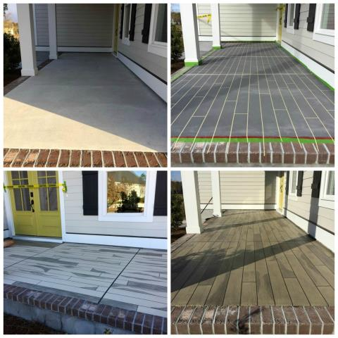 Henderson, NV - Are you wanting that Rustic Wood patio look for your home, but was told no due to the weather conditions in your area? Concrete Wood provides that wood look, but with durability and benefits regular wood can not offer. This system is perfect for areas that Hardwood can not be installed, such as outdoors!!